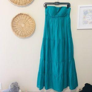 Jessica Simpson Strapless Maxi Dress Boho Tiered